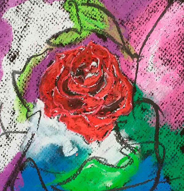 Cuadro Rosa Roja